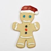 Ciasteczkowy ludek w czapce Mikołaja
