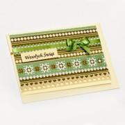 Kartka świąteczna, zielono-brązowa