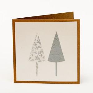 Kartka świąteczna biała