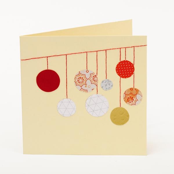 Kartka świąteczna zdobiona jasna