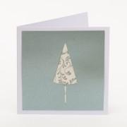 Kartka pocztowa srebrna