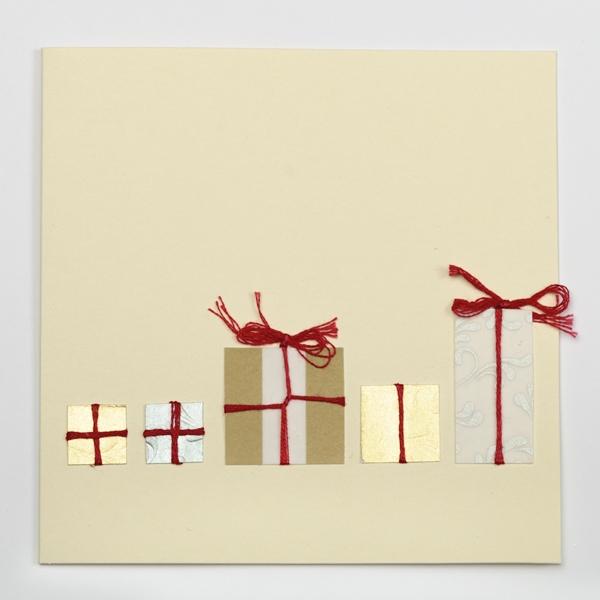 Kartka z motywem prezentów