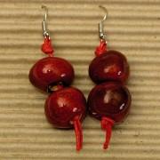 Kolczyki czerwone