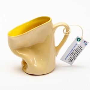 Kubek ceramiczny - żółty
