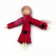 Lalka filcowa - czerwona
