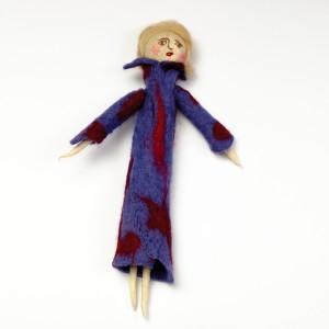 Lalka filcowa - niebieska