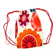 Plecak w duże kolorowe kwiaty